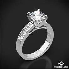 18k White Gold Princess Channel-Set Diamond Engagement Ring | Whiteflash