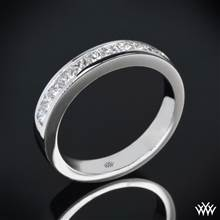 18k White Gold Princess Channel-Set Diamond Wedding Ring | Whiteflash