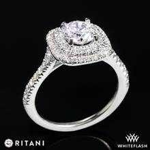 18k White Gold Ritani 1RZ1338  Diamond Engagement Ring | Whiteflash