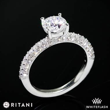 18k White Gold Ritani 1RZ1340  Diamond Engagement Ring