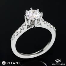 18k White Gold Ritani 1RZ1345  Diamond Engagement Ring | Whiteflash