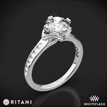 18k White Gold Ritani 1RZ1385 Modern Channel-Set Diamond Engagement Ring | Whiteflash