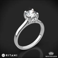 18k White Gold Ritani 1RZ2465 Surprise Diamond Solitaire Engagement Ring | Whiteflash