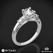 18k White Gold Ritani 1RZ2716 Trellis Five-Stone Diamond Engagement Ring | Whiteflash