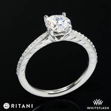 18k White Gold Ritani 1RZ2851  Diamond Engagement Ring | Whiteflash