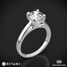 18k White Gold Ritani 1RZ7234 Cathedral Surprise Diamonds Solitaire Engagement Ring | Whiteflash