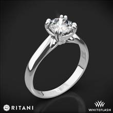 18k White Gold Ritani 1RZ7242 Tulip Cathedral Solitaire Engagement Ring   Whiteflash
