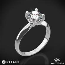 18k White Gold Ritani 1RZ7261 Knife-Edge Solitaire Engagement Ring | Whiteflash
