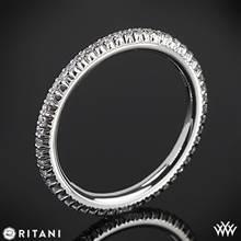 18k White Gold Ritani 33700 Open Micropave Eternity Diamond Wedding Ring | Whiteflash