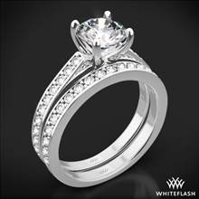 18k White Gold Scarlet Diamond Wedding Set | Whiteflash