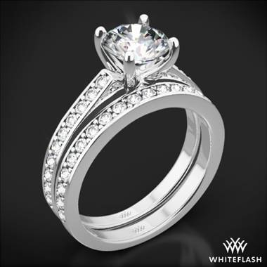 18k White Gold Scarlet Diamond Wedding Set