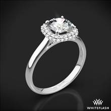 18k White Gold Selene Solitaire Engagement Ring | Whiteflash