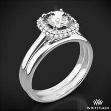 18k White Gold Selene Solitaire Wedding Set | Whiteflash