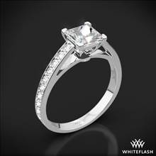 18k White Gold Serendipity Diamond Engagement Ring for Princess | Whiteflash