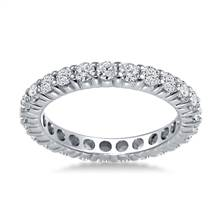 18K White Gold Shared Prong Diamond Eternity Ring (1.15 - 1.35 cttw.) | B2C Jewels