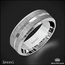 18k White Gold Simon G. LG152 Men's Wedding Ring | Whiteflash