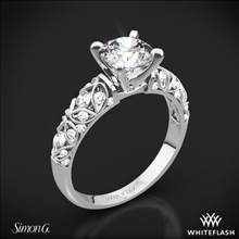 18k White Gold Simon G. LP1582-D Delicate Diamond Engagement Ring | Whiteflash