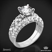 18k White Gold Simon G. LP1582 Delicate Diamond Wedding Set | Whiteflash