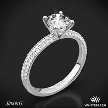 18k White Gold Simon G. LP1935-D Delicate Diamond Engagement Ring   Whiteflash