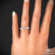 18k White Gold Simon G. LP2340 Anniversary 0.75ctw Diamond Ring | Whiteflash