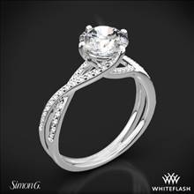 18k White Gold Simon G. MR1394 Fabled Diamond Engagement Ring | Whiteflash