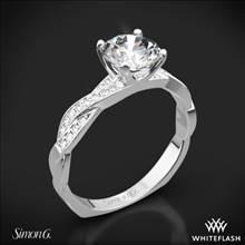 18k White Gold Simon G. MR1498-D Delicate Diamond Engagement Ring   Whiteflash