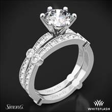 18k White Gold Simon G. MR1546 Delicate Diamond Wedding Set | Whiteflash