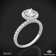 18k White Gold Simon G. MR1811 Passion Halo Diamond Engagement Ring | Whiteflash