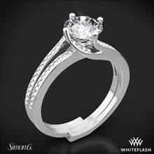 18k White Gold Simon G. MR1939 Fabled Diamond Wedding Set | Whiteflash