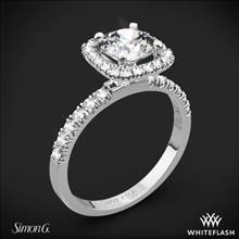 18k White Gold Simon G. MR2132 Passion Diamond Engagement Ring | Whiteflash