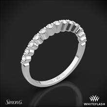 18k White Gold Simon G. MR2173-D Delicate Diamond Wedding Ring | Whiteflash