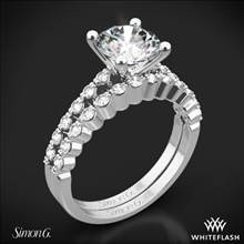 18k White Gold Simon G. MR2173 Delicate Diamond Wedding Set | Whiteflash