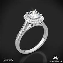 18k White Gold Simon G. MR2395 Passion Halo Diamond Engagement Ring | Whiteflash