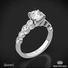 18k White Gold Simon G. MR2399 Passion Diamond Engagement Ring | Whiteflash