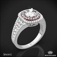 18k White Gold Simon G. MR2453 Passion Double Halo Diamond Engagement Ring | Whiteflash
