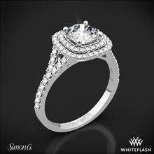 18k White Gold Simon G. MR2459 Passion Halo Diamond Engagement Ring | Whiteflash