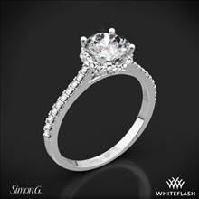 18k White Gold Simon G. MR2478 Caviar Diamond Engagement Ring | Whiteflash