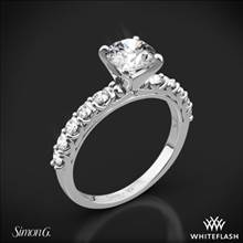18k White Gold Simon G. MR2492 Caviar Diamond Engagement Ring | Whiteflash