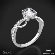 18k White Gold Simon G. MR2526 Fabled Crisscross Diamond Engagement Ring | Whiteflash