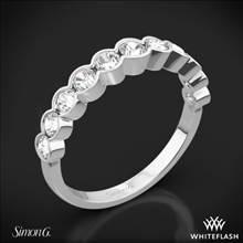 18k White Gold Simon G. MR2566 Caviar Diamond Wedding Ring | Whiteflash