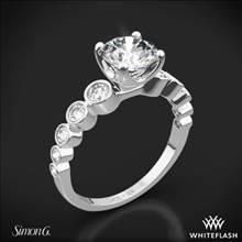 18k White Gold Simon G. MR2692 Caviar Diamond Engagement Ring | Whiteflash