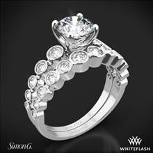 18k White Gold Simon G. MR2692 Caviar Diamond Wedding Set | Whiteflash