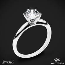 18k White Gold Simon G. MR2948 Solitaire Engagement Ring   Whiteflash