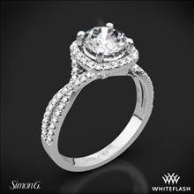 18k White Gold Simon G. NR468 Passion Halo Diamond Engagement Ring | Whiteflash