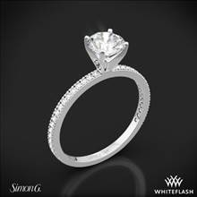 18k White Gold Simon G. PR108 Classic Romance Diamond Engagement Ring | Whiteflash