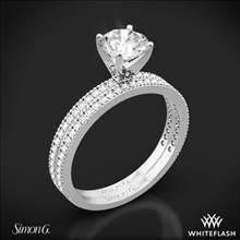 18k White Gold Simon G. PR108 Classic Romance Diamond Wedding Set | Whiteflash