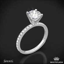 18k White Gold Simon G. PR148 Passion Diamond Engagement Ring | Whiteflash