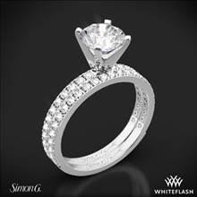 18k White Gold Simon G. PR148 Passion Diamond Wedding Set | Whiteflash