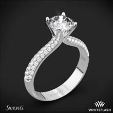 18k White Gold Simon G. TR431 Caviar Diamond Engagement Ring | Whiteflash
