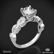 18k White Gold Simon G. TR473 Duchess Diamond Engagement Ring | Whiteflash